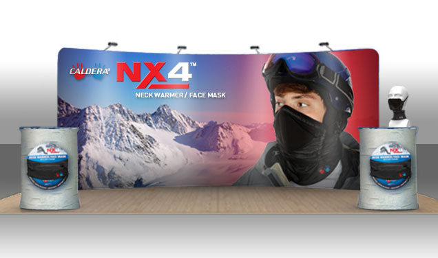 Caldera International – Winter Product Trade Show Booth