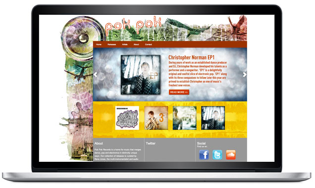 Pok Pok Records – Music Label Retail Website