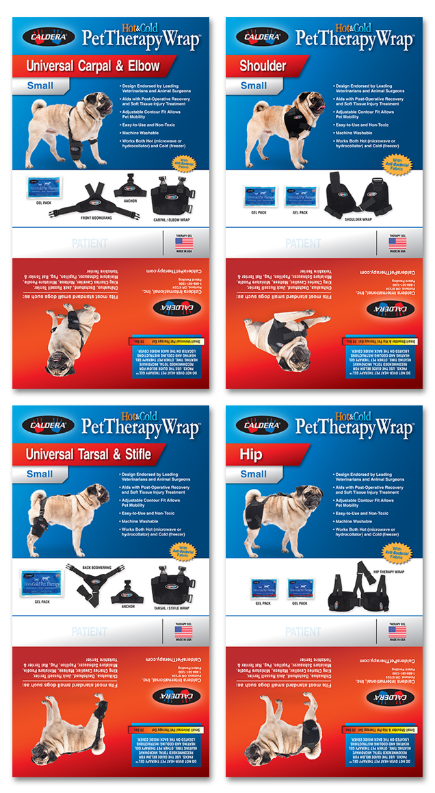 d30n llc, Caldera Pet Therapy, Package Design