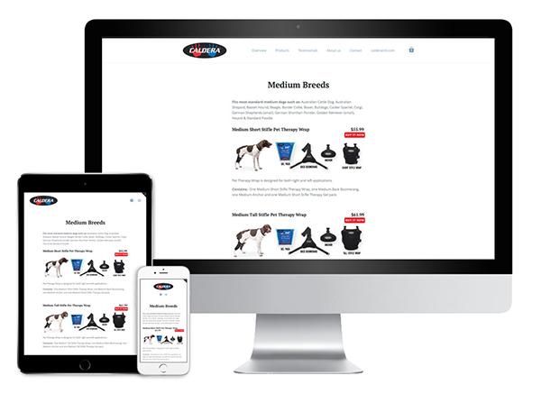 d30n llc, Caldera Pet Therapy, retail website