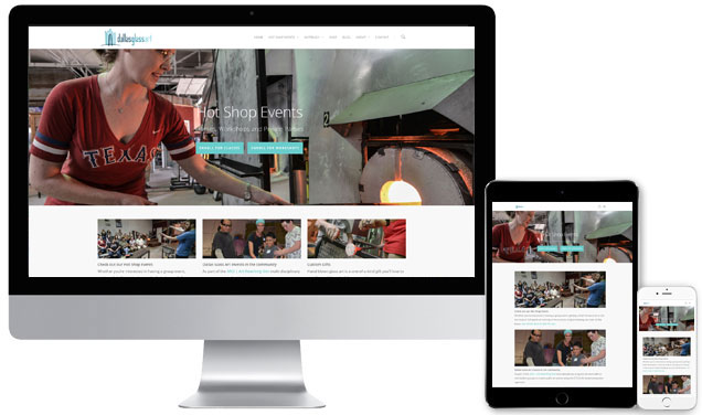 Dallas Glass Art – Responsive Website