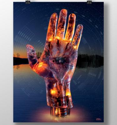 Poster, d30n, Sleeping Robot Poster, Ben Milstein, Ambient Album